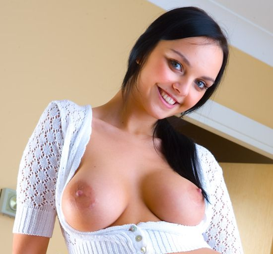Teen with Large Breasts and Pink Nipples